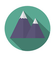 Flat design modern of snow caped mountain icon vector image vector image