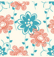 floral seamless pattern or background abstract vector image vector image