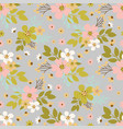flower dust hand drawn seamless pattern vector image vector image