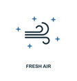 fresh air icon creative two colors design from vector image vector image
