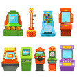 game machines pictures in cartoon style vector image vector image