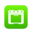 gas stove icon digital green vector image