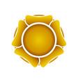 golden rafflesia flower symbol design vector image vector image