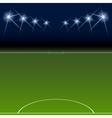Green soccer field bright spotlights vector image vector image