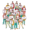 Group business people unemployed looking for job vector image vector image