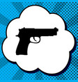 gun sign black icon in vector image