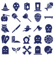 Halloween isolated icons set every single