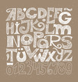 hand drawn decorative typography vector image