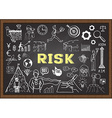 Hand drawn risk on chalkboard vector image vector image