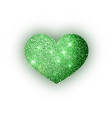 heart green glitter isoleted on white background vector image
