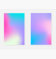 holographic backgrounds in different colors vector image