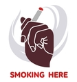 icon on smoking in flat style vector image vector image