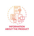 information about product concept icon