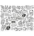 jazz doodles vector image