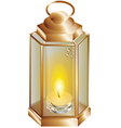 lantern with a candle vector image