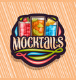 logo for mocktails vector image vector image