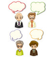 men with different bubble speeches vector image vector image