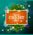 merry christmas on orange background vector image vector image