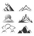 Mountains silhouettes collection vector image