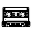music cassette icon simple style vector image vector image