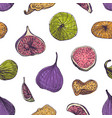 natural seamless pattern with delicious fresh and vector image vector image
