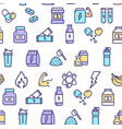 nutrition signs seamless pattern background vector image