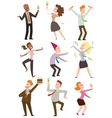 Office party people set vector image