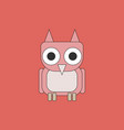 owl - icon design on white background vector image vector image