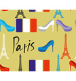 Paris seamless pattern Flag of France and Eiffel vector image vector image