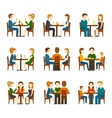 People In Restaurant Set vector image
