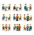 People In Restaurant Set vector image vector image