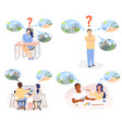 people planning summer vacation flat vector image