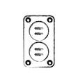 plug electric socket vector image