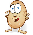 potato cartoon isolated on white background vector image vector image