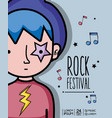Rock festival concert music event vector image