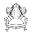 Royal Armchair set in Baroque style vector image vector image