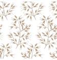 seamless vintage summer lineart floral pattern vector image