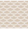 Seamless white scales lace vector image vector image