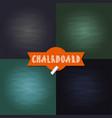 set blank chalkboard texture backgrounds vector image vector image