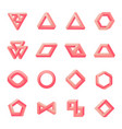 set of impossible shapes optical isolated on