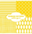 Set of sweet seamless patterns vector image vector image