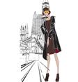 sketch girl Englishwoman vector image vector image