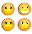 Smiley face set vector image
