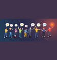 social opinion leader audience influence concept vector image vector image