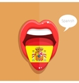 Spanish language concept vector image vector image