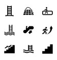 staircase icons vector image vector image