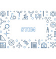 stem outline creative horizontal frame or vector image