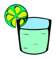 tequila in a glass with lime icon cartoon vector image vector image