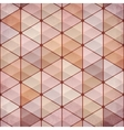 Textured vintage beige triangles background vector image vector image