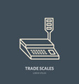 trade scales flat line icons retail store vector image vector image